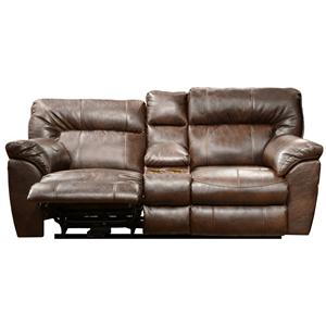 Catnapper Nolan  Extra Wide Reclining Console Loveseat
