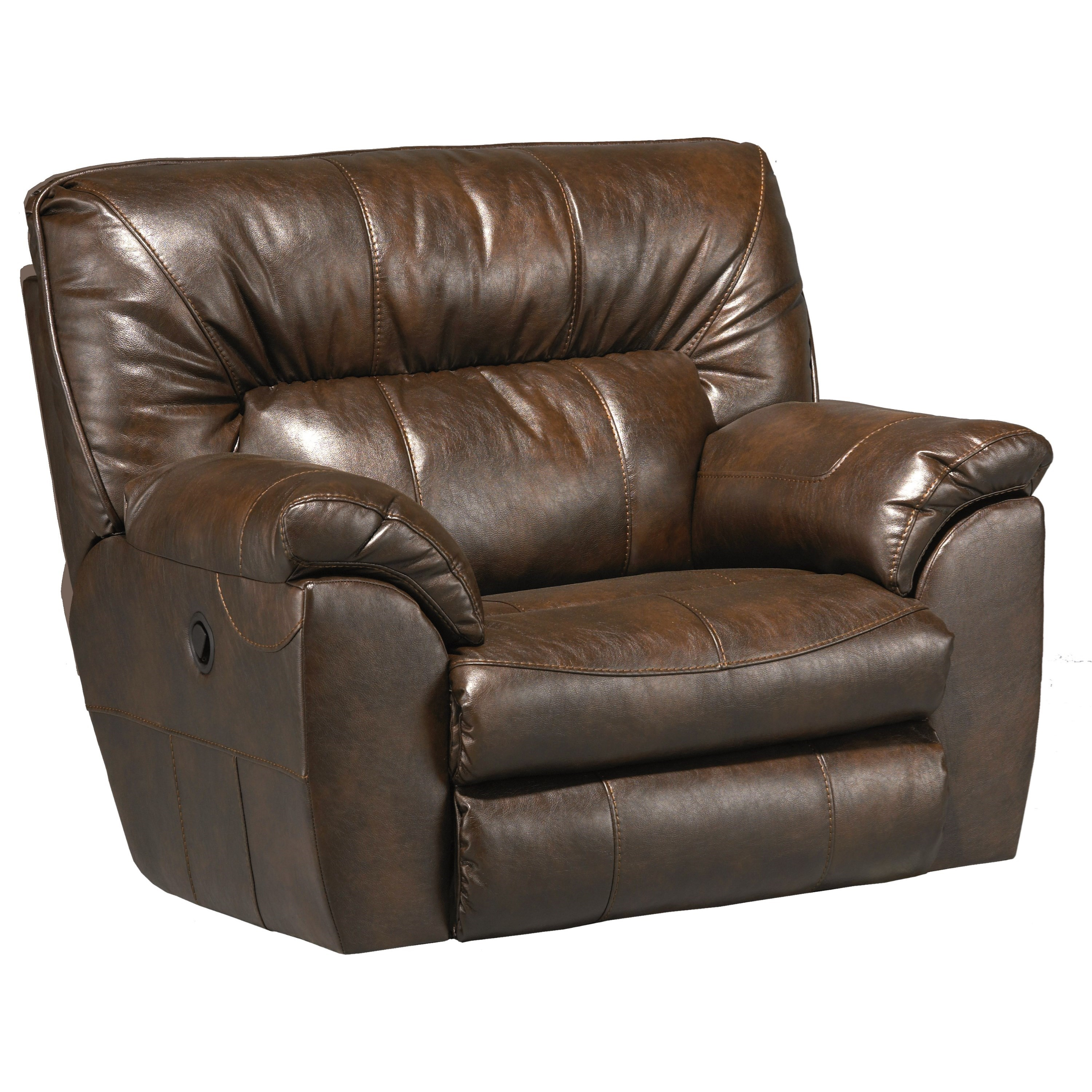 Power Extra Wide Cuddler Recliner With Casual Contemporary Style