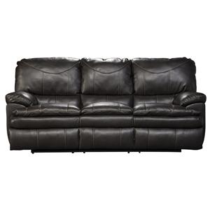 Reclining Sofa with Pillow Topped Cushions