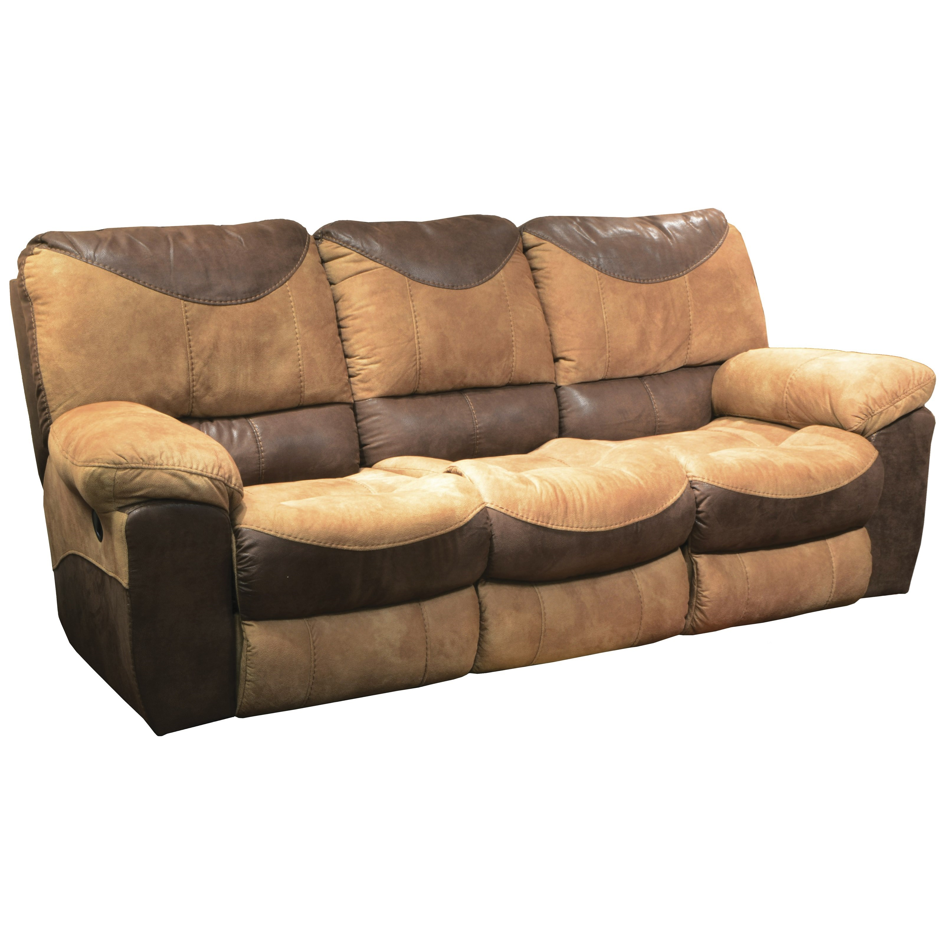 Country furniture sofa - Three Seat Reclining Sofa With Casual Country Charm