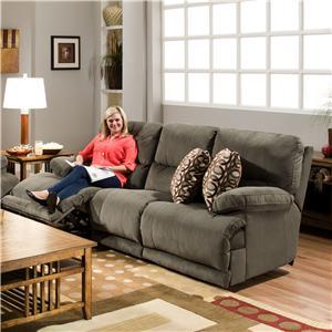 Catnapper Riley Power Reclining Microfiber Sofa