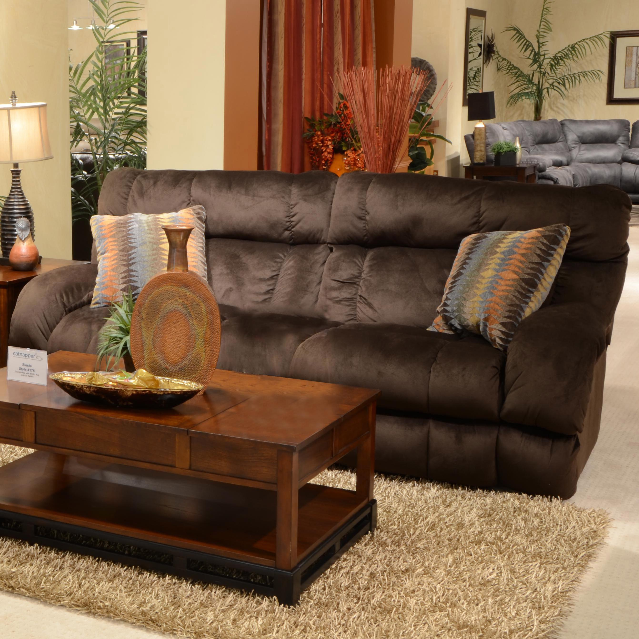 power lay flat reclining sofa with wide seats by catnapper w