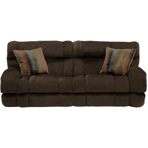 Lay Flat Reclining Sofa with Wide Seats