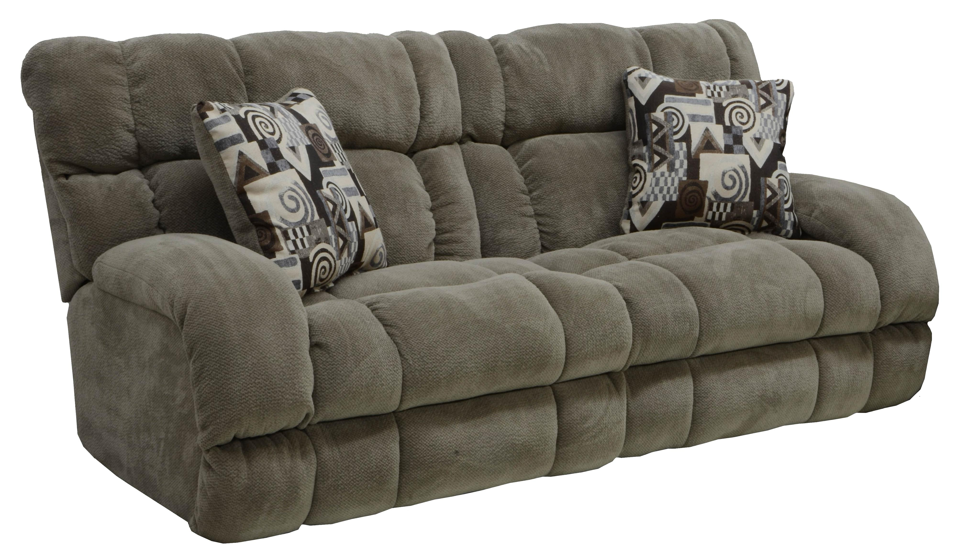 Power lay flat reclining sofa with wide seats by catnapper Power reclining sofas and loveseats