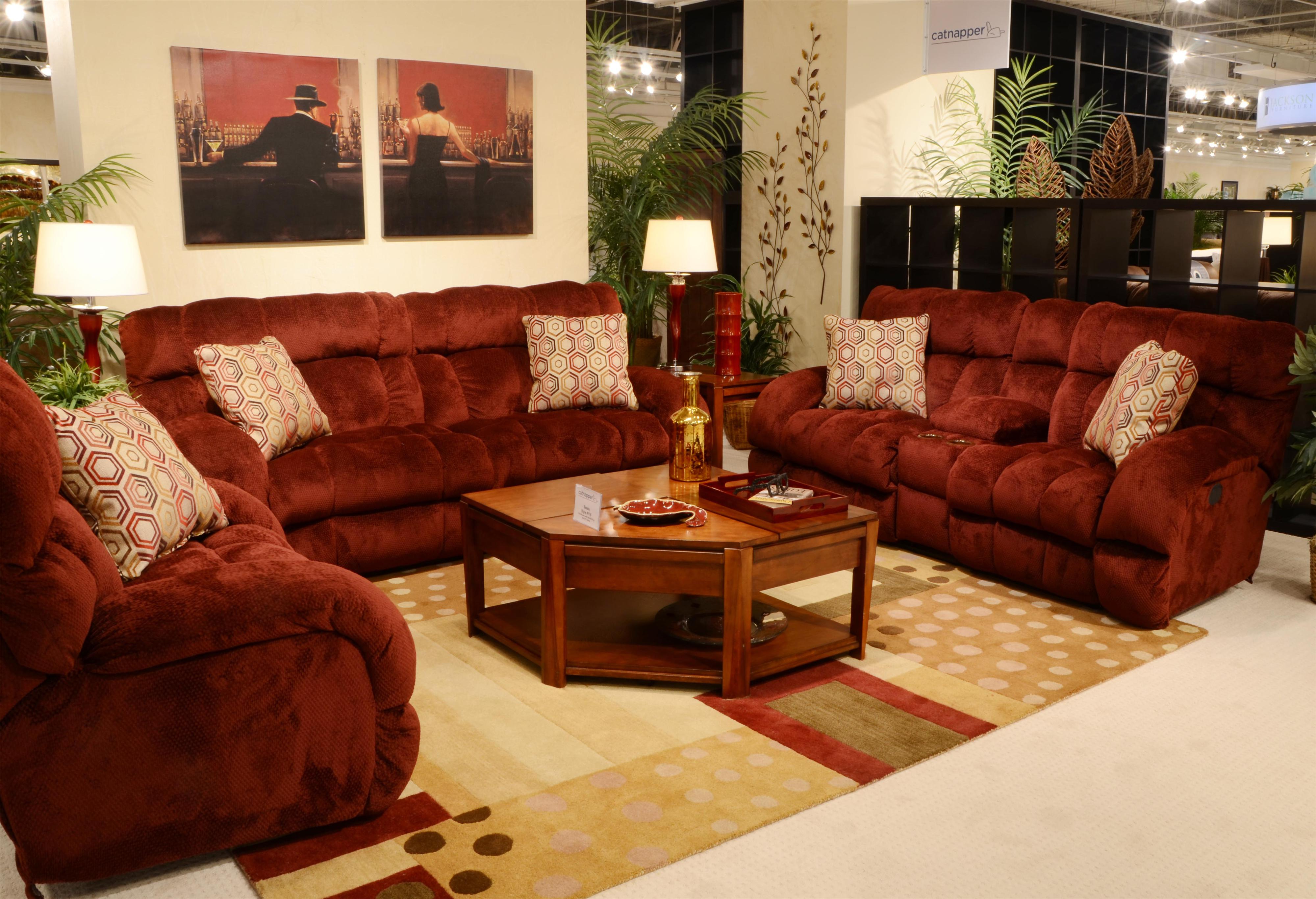 Lay Flat Reclining Sofa With Wide Seats By Catnapper