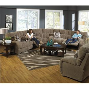power reclining sectional sofa with cup holders