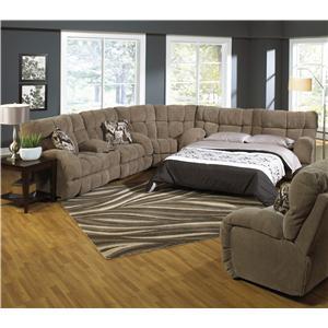 Reclining Sectional Sofa with Sofa Sleeper