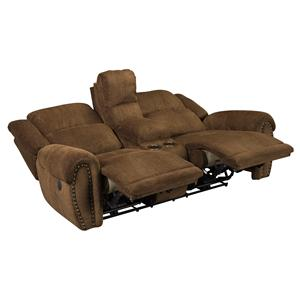 Catnapper Stafford Power Lay Flat Reclining Console Sofa