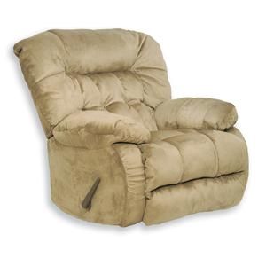 Chaise Rocker Recliner with Pillow Arms