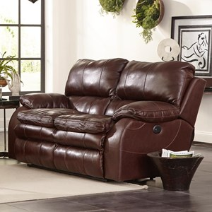 Power Lay Flat Reclining Loveseat with Power Headrest
