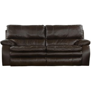 Power Lay Flat Reclining Sofa with Power Lumbar and Headrests