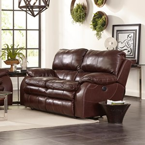 Power Lay Flat Reclining Loveseat with Power Lumbar and Headrests
