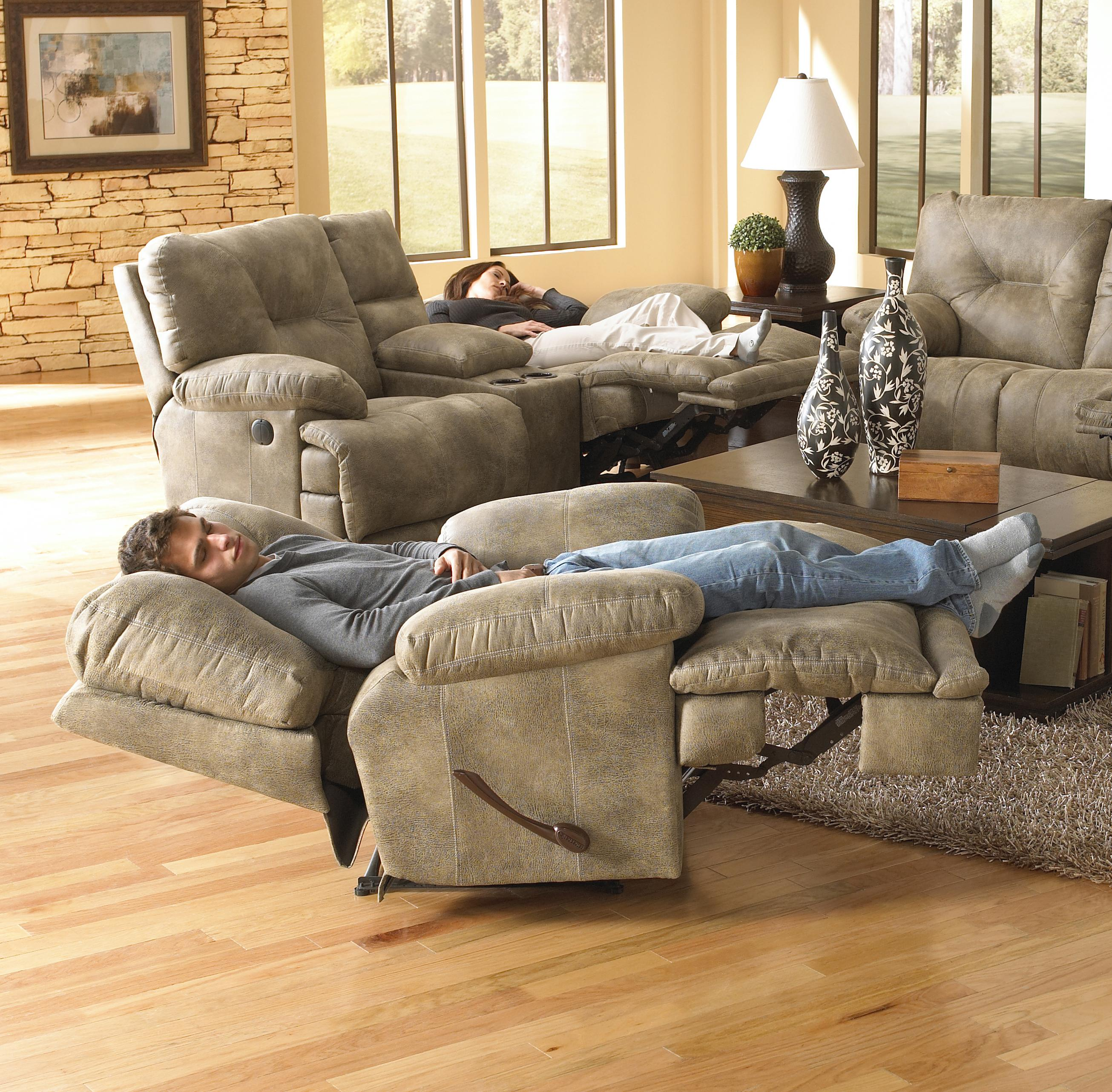 Power Single Seat Lay Flat Recliner By Catnapper Wolf And