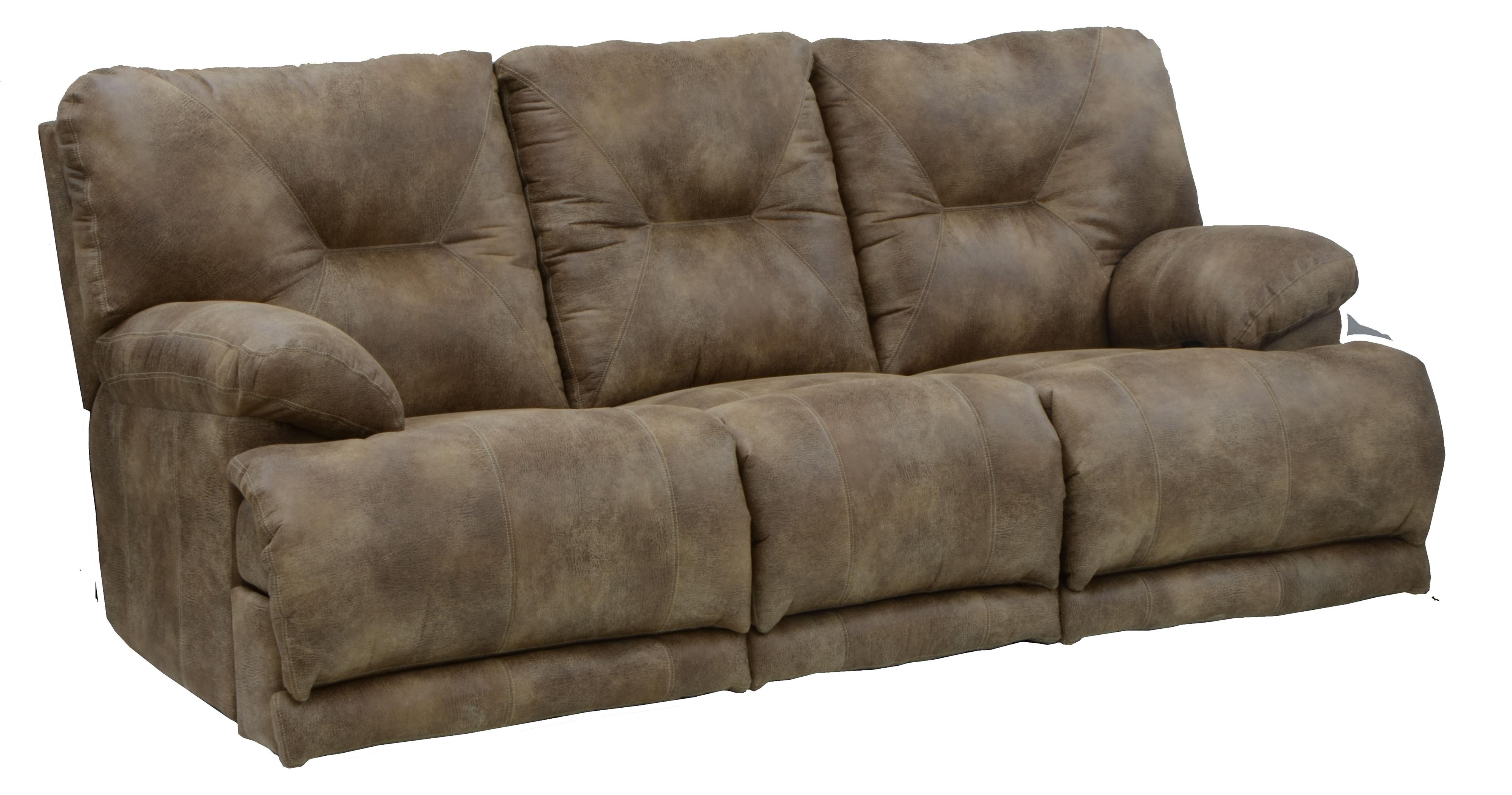 Power 3 Seat Lay Flat Reclining Sofa By Catnapper Wolf