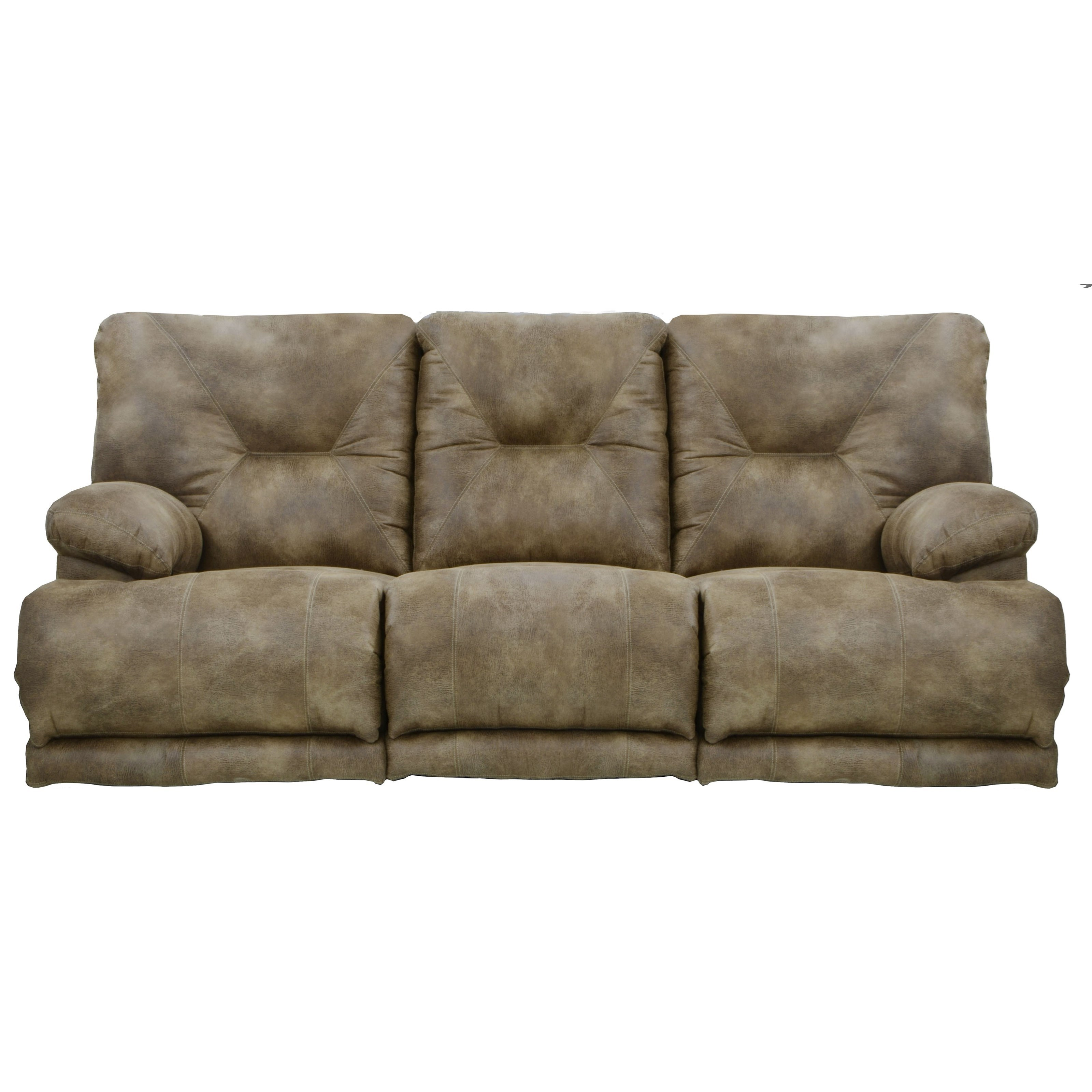 3 Seat Lay Flat Reclining Sofa With Fold Down Middletable By Catnapper Wolf And Gardiner