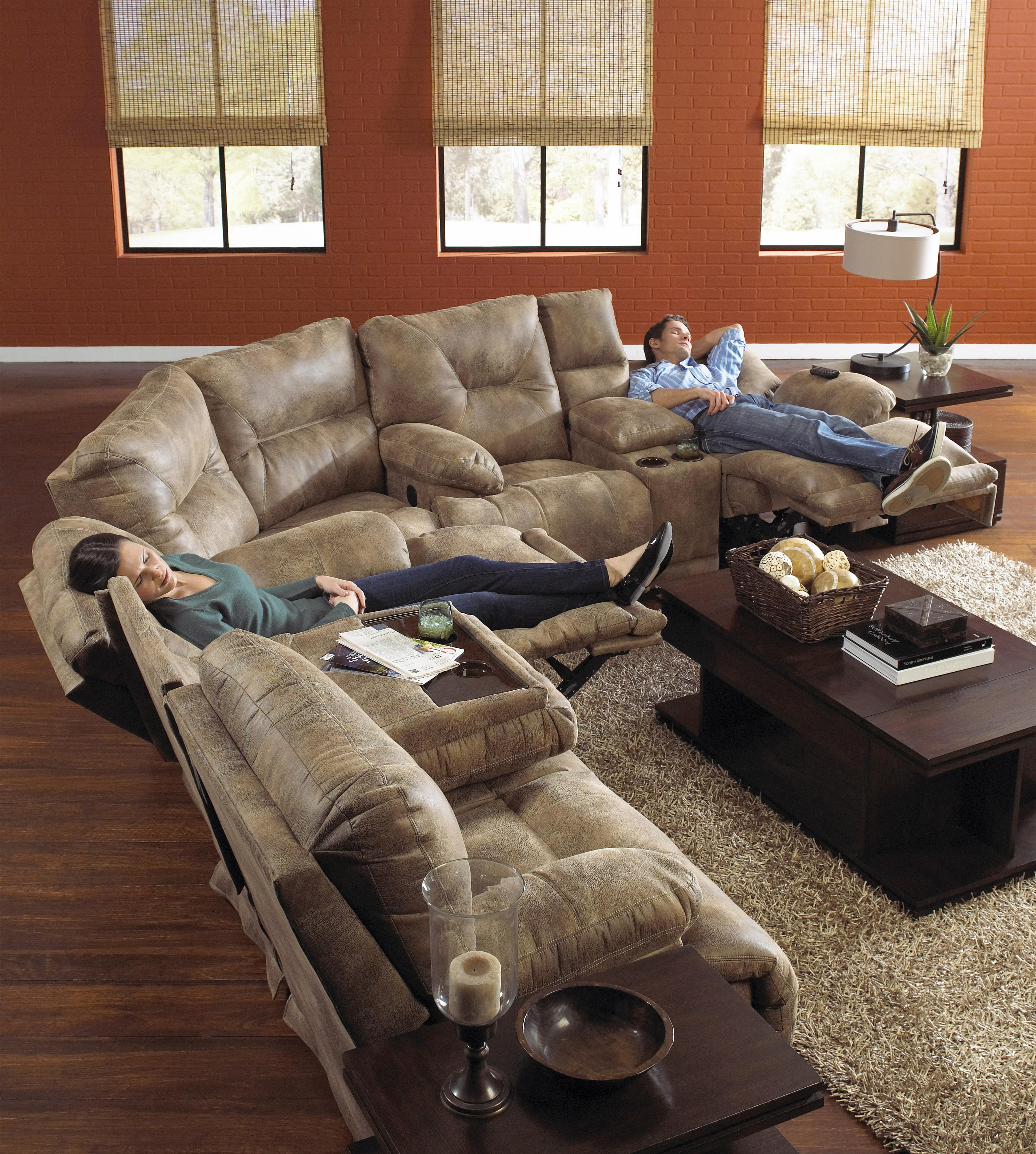 POWER  Lay Flat  Reclining Sectional Seating : catnapper sectionals - Sectionals, Sofas & Couches
