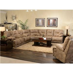 "Vendor 6455 Voyager POWER ""Lay Flat"" Reclining Sectional Seating"