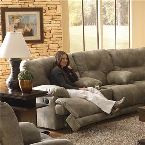 "Vendor 6455 Voyager POWER ""Lay Flat"" Reclining Console Loveseat"