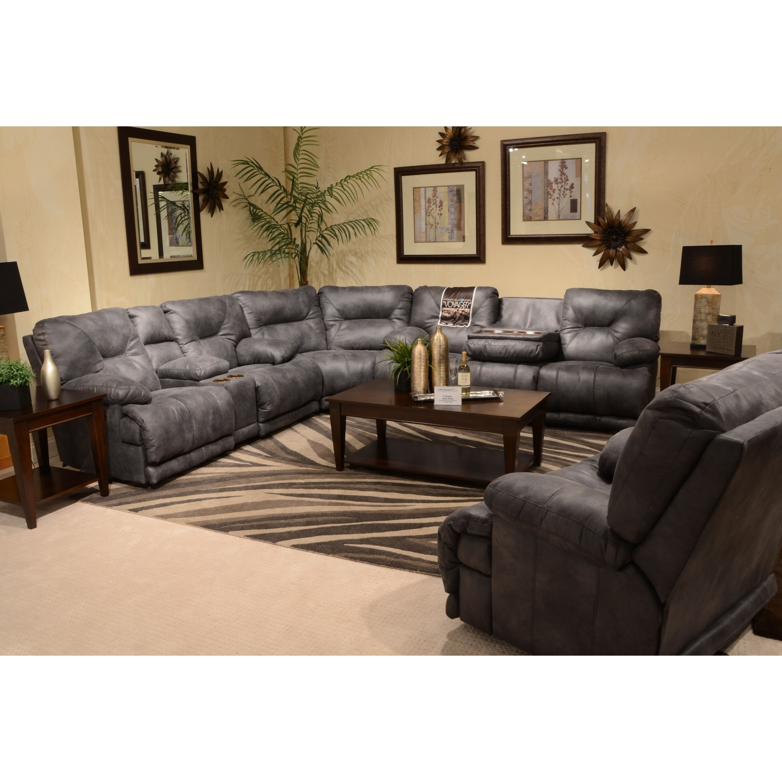 Power Lay Flat Reclining Console Loveseat With Cupholders