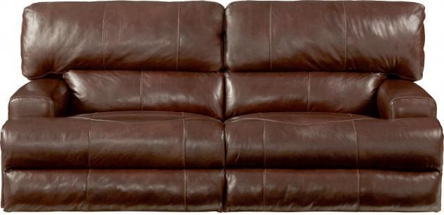 Top Grain Leather Match Dual Reclining Sofa With Power