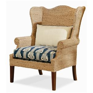Century Elegance  Water Hyacinth Wing Chair
