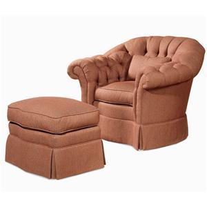 Century Elegance  Chair & Ottoman