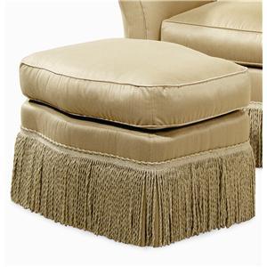 Century Elegance  Upholstered Ottoman with Fringe