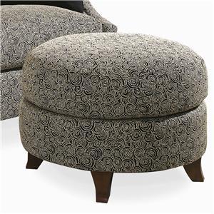 Century Elegance  Round Ottoman