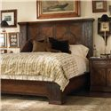 Century Marbella 661 King Size Reyes Mahogany Bed - Shown with Mahogany and Walnut Araceli Nightstand. Bed Shown May Not Represent Size Indicated.
