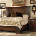 Century Marbella 661 Mahogany and Walnut Araceli Nightstand  - Shown with Reyes Mahogany Bed