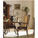 Century Marbella 661 Calderon Arm Chair with Nail Head Trim - Shown with Formal Refectory Dining Table, Calderon Side Chair and Cielo Credenza China Cabinet