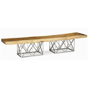 Century Milan Natural Edge Slab Cocktail Table