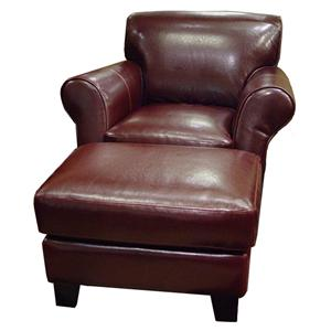 Chateau D'Ax U681 Chair and Ottoman Set