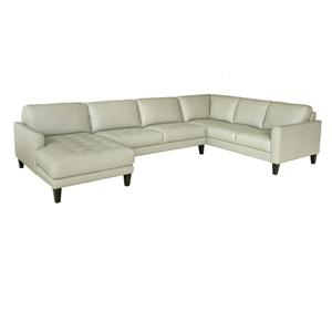 Chateau D'Ax C282- LT GRAY Leather Sectional