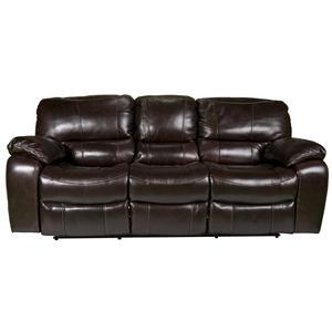 Morris Home Furnishings Derien Derien Leather-Match* Reclining Sofa