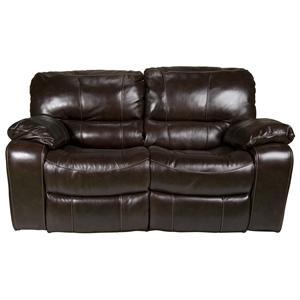 Morris Home Furnishings Derien Derien Leather-Match* Reclining Loveseat