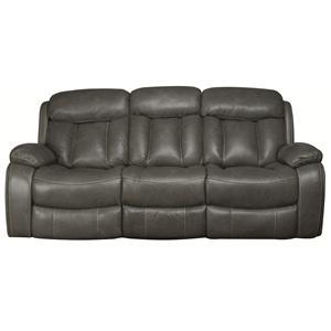 Morris Home Furnishings Tucker Tucker Leather-Match* Power Reclining Sofa