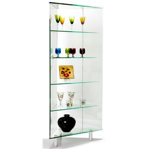 Chintaly Imports Curios All Glass Triangle Curio