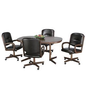 Chromcraft Custom Casual Dining Customizable 5 Piece Table & Chairs Set