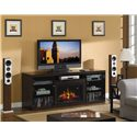 ClassicFlame Alexander Alexander Remote Operated Electric Fireplace with Media Storage - Add Warmth and Media Storage to Any Space
