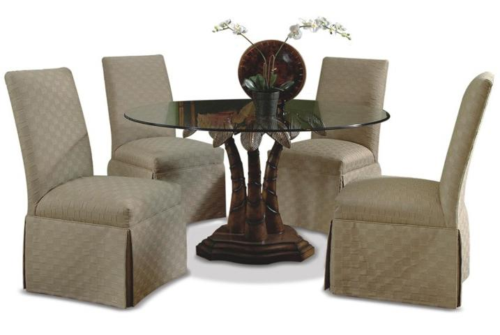 Piece Chair And Tropical Table Set By CMI Wolf And Gardiner Wolf - Glass top pedestal dining table sets