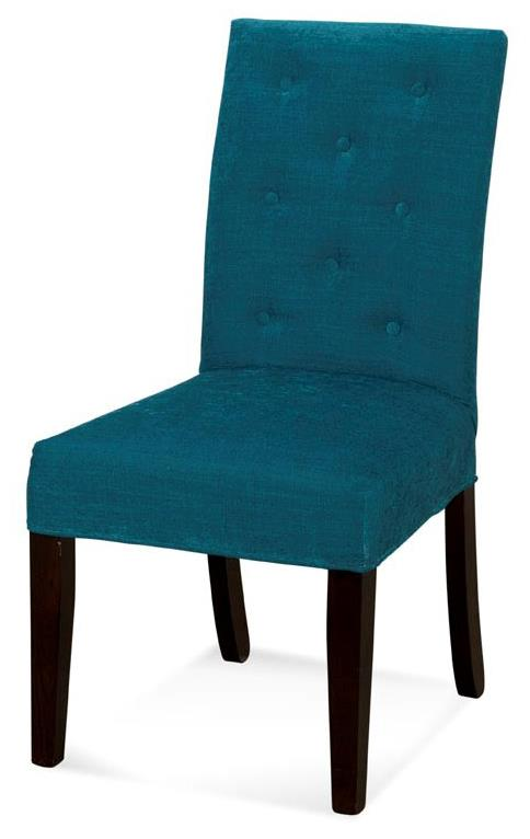 Upholstered Parson Chair With Tufted Back