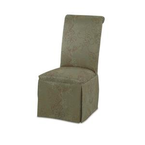 Upholstered Parson Chair with Skirt