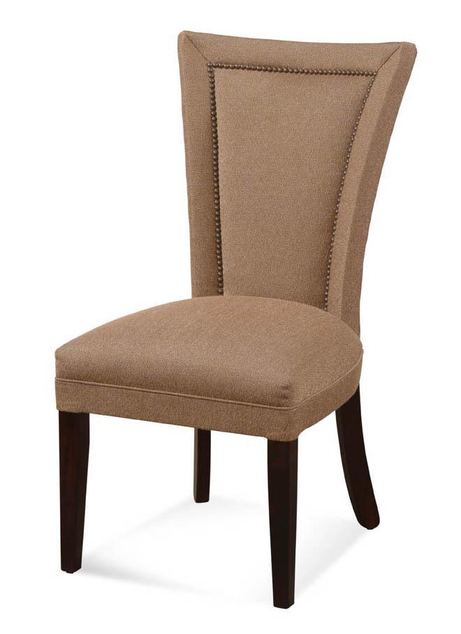 Flared Back Leg Parsons Chair With Nailhead Trim