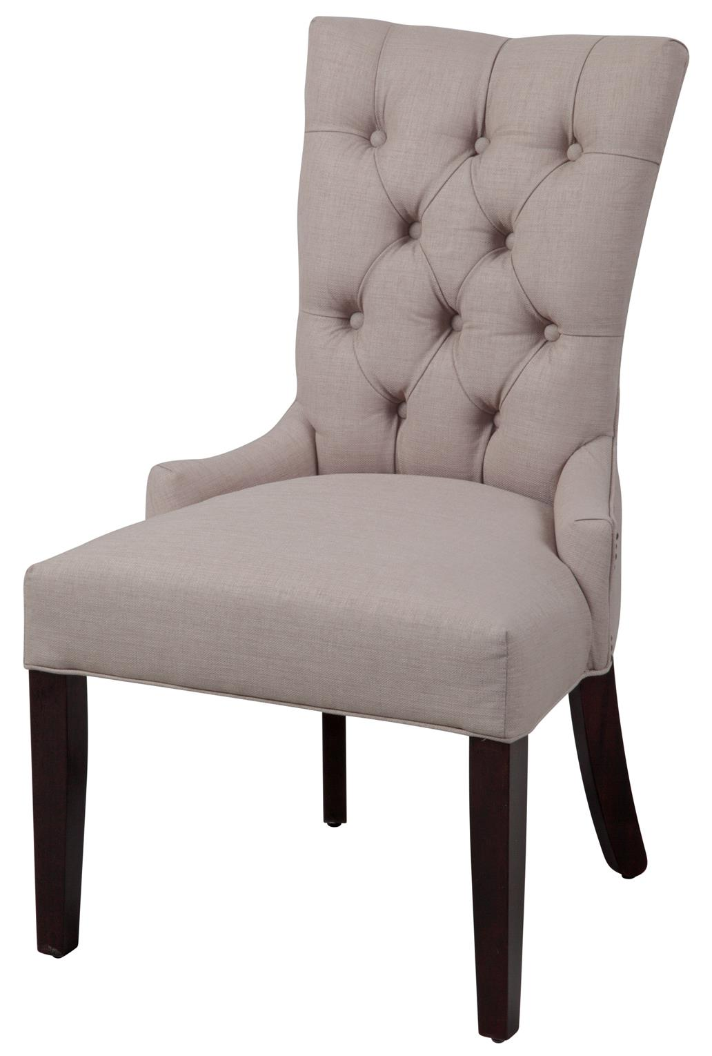 Superieur Button Back Chair With Cappucino Leg