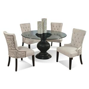 "Round Glass Dining Room Tables 54"" round glass dining table with pedestal basecmi 