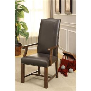 Morris Home Furnishings Morris Home Furnishings New Guinea Bonded Arm Chair