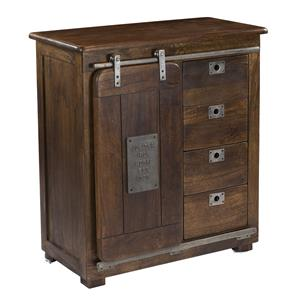 Four Drawer One Door Cabinet