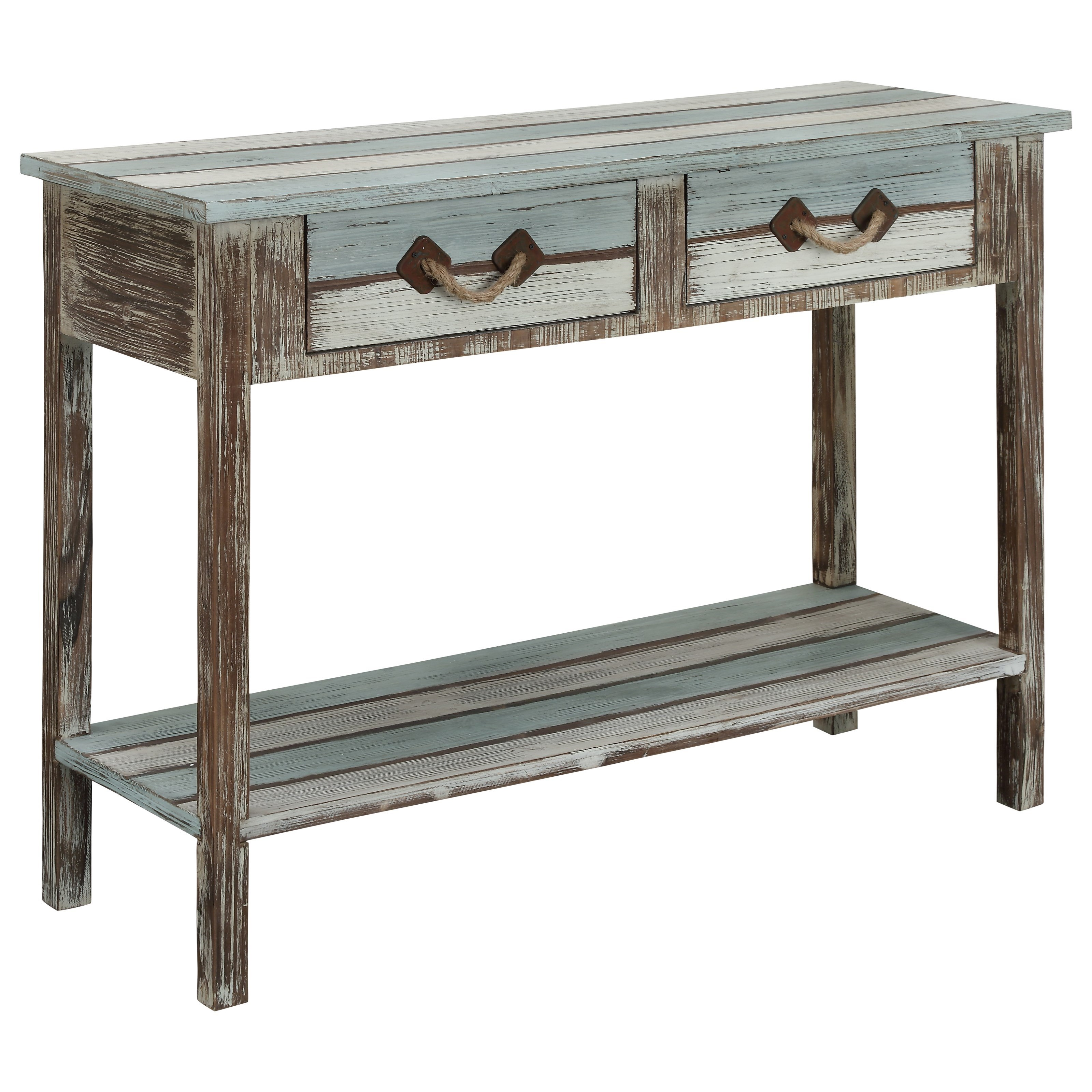 By Coast To Coast Imports. Two Drawer Console Table
