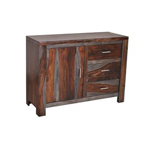 Coast to Coast Imports Jadu Accents One Door Three Drawer Cabinet